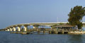 John Ringling Causeway; Ringling Bridge visible at the center.